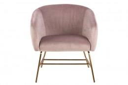 Fotel Ramsey VIC dusty rose/gold